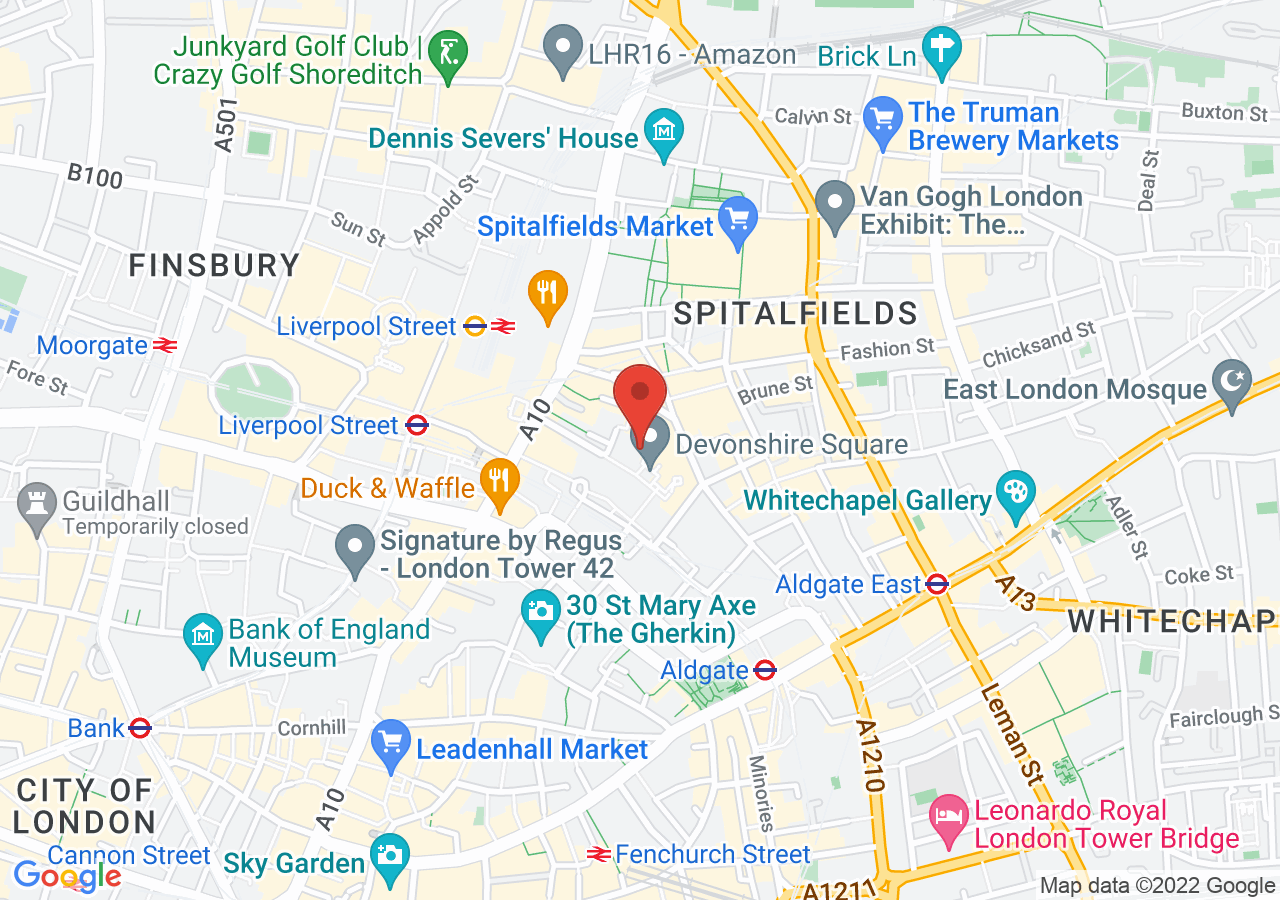 The location of Devonshire Terrace