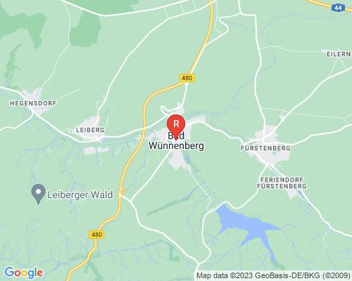 Google Karte von Rohrreinigung Bad Wünnenberg