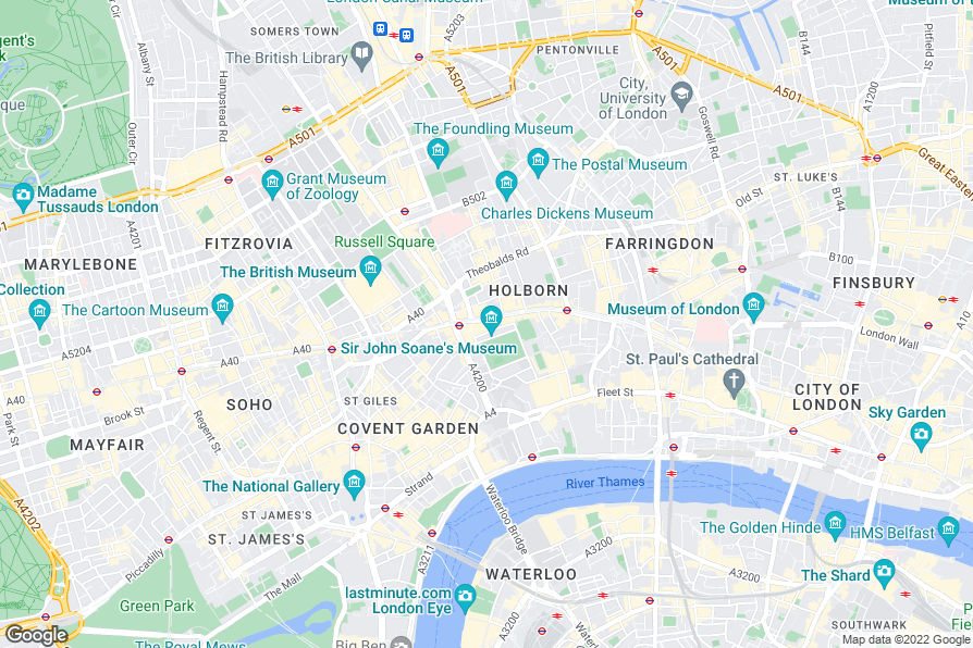 Rosewood Hotel London Location Map