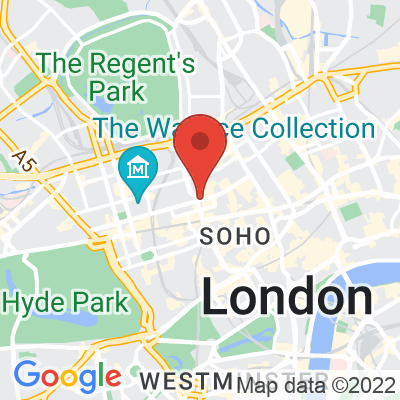 Map showing Workshop Coffee (Fitzrovia)