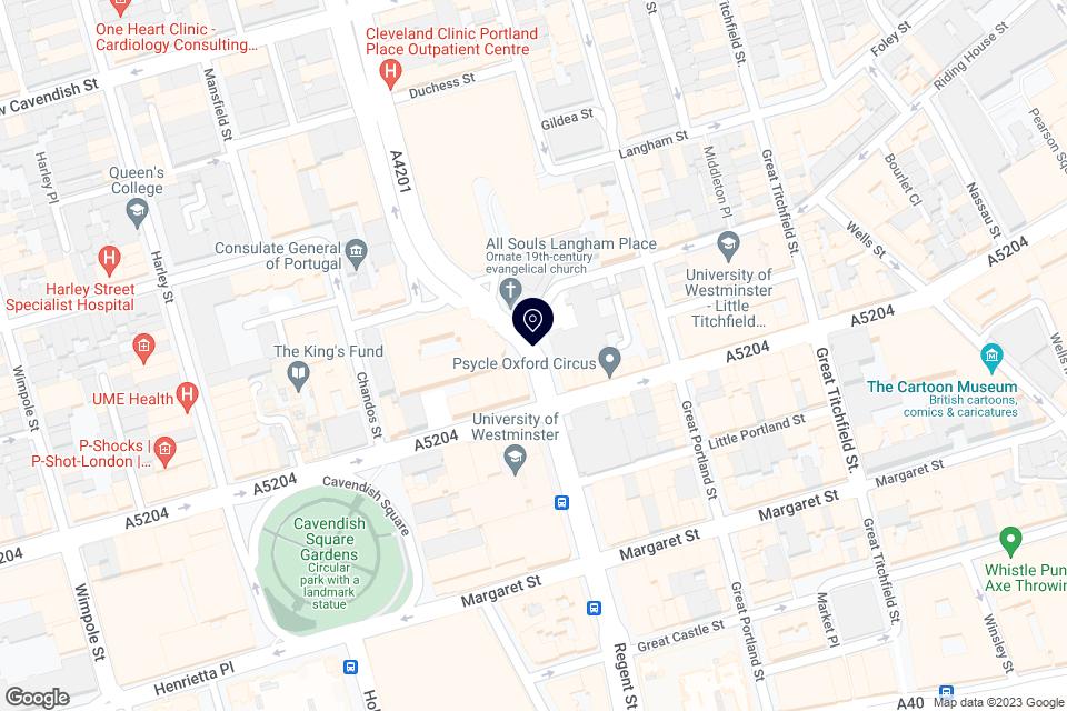 4-5 Langham Place, W1B 3DG, London map