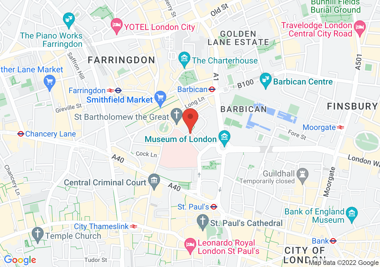 The location of Butchers' Hall London