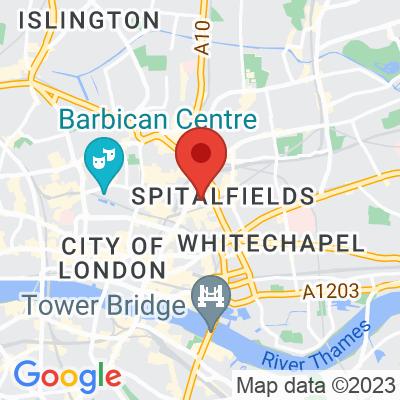 Map showing Nude Espresso (Spitalfields)