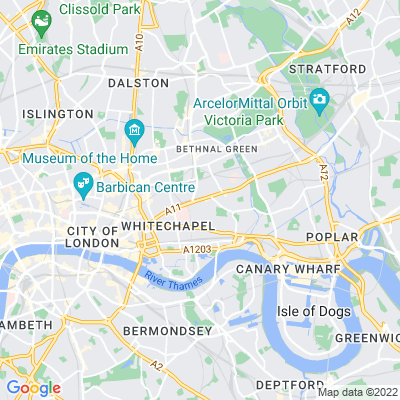 Mile End Road Verges Location