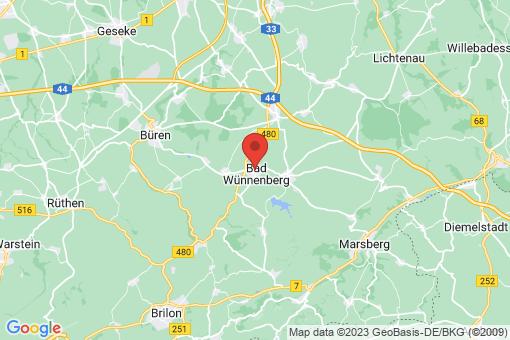 Karte Bad Wünnenberg