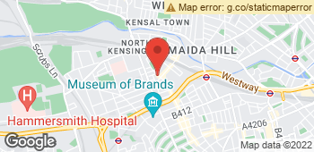 Map of Floral Studio at 337 Portobello Road, London, Inner London W10 5SA