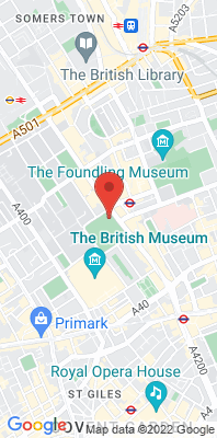 Map showing the location of the London Bloomsbury monitoring site
