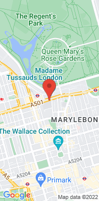 Map showing the location of the London Marylebone Road monitoring site