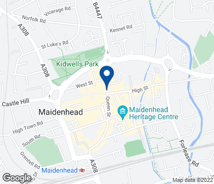 Map of 54-58 High Street in Maidenhead