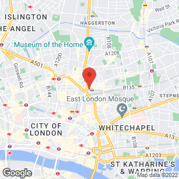 Map of STA Travel at Unit 15 2-10 Bethnal Green Rd, London, - E1 6GY