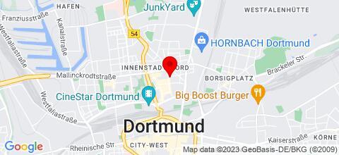 Google Map für Schöne FEWOs in Dortmund, Bochum, Gelsenkirchen, Essen, Mülheim, Duisb