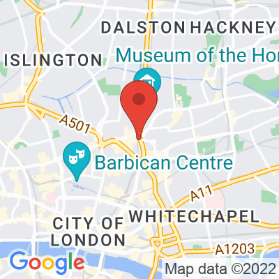 Map showing Ditto Coffee (Shoreditch)