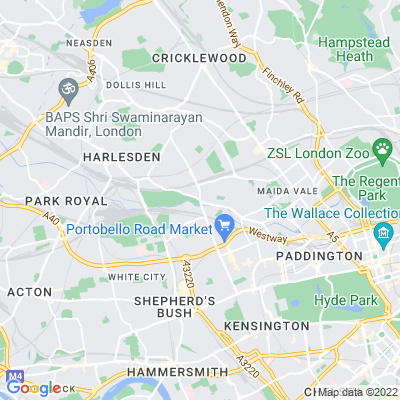 Grand Union Canal Towpath (Paddington Arm) Location