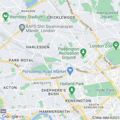 Kensal Green Cemetery Location
