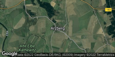 Google Map of Arzberg bei Torgau