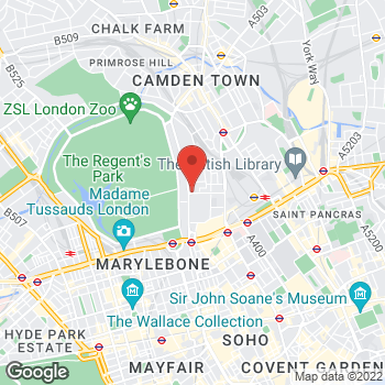 Map of Bargain Booze Plus Robert Street at 108 Robert Street, London, London NW1 3QP