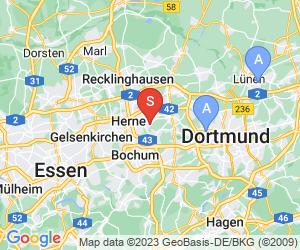 Karte für Disc Golf-Anlage Herne Gysenbergpark