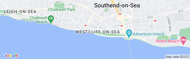 Map Of Westcliff-on-Sea