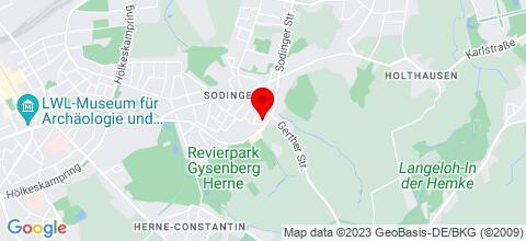 Google Map für Appartement Dünwald Herne