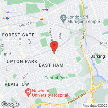 Map of wilko East Ham at 145-147 High Street, East Ham,  E6 1HZ