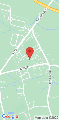 Map showing the location of the Iver Heath Junior School monitoring site