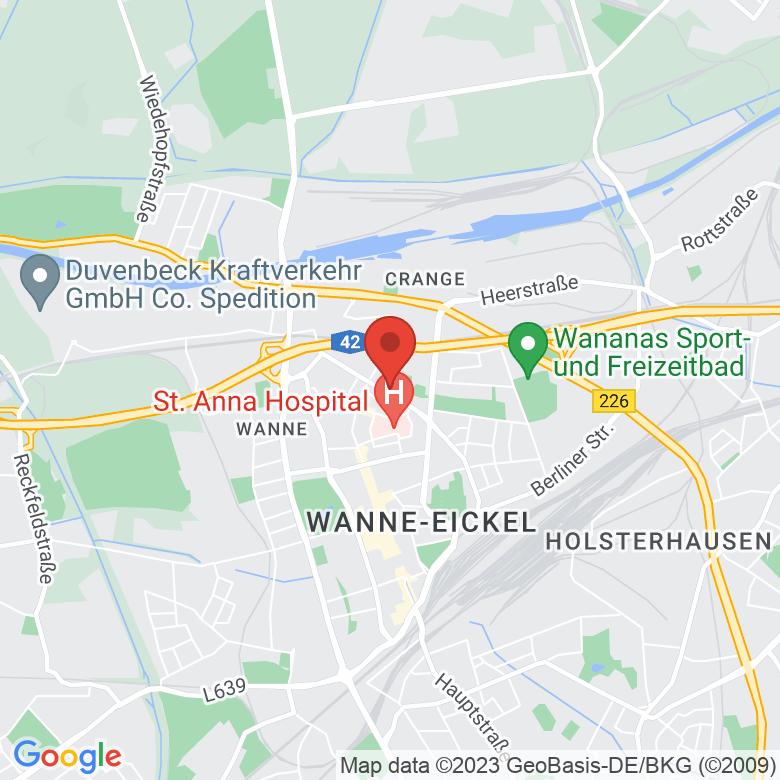 Route von Bochum nach Herne, NRW - Ruhrgebiet