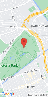 Map showing the location of the Tower Hamlets - Victoria Park monitoring site