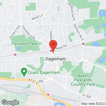 Map of wilko Dagenham at Unit 10, Dagenham,  RM10 8RE