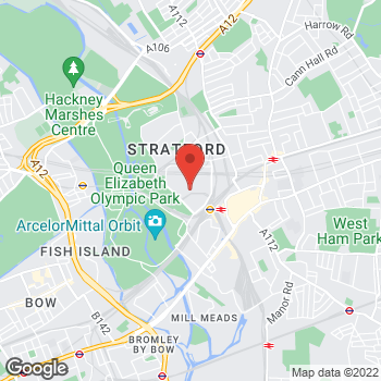 Map of Foot Locker Stratford City at 151-152 The Arcade, Westfield Stratford City, Stratford City,  E20 1EJ