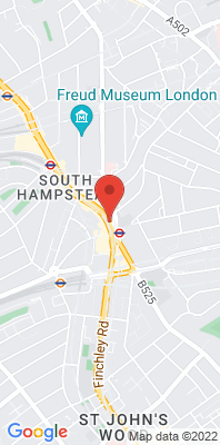 Map showing the location of the Camden Kerbside monitoring site