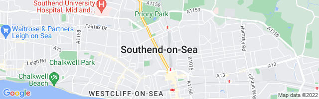 Map Of Southend-On-Sea