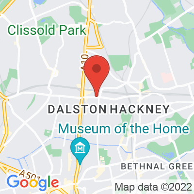 Map showing Allpress Dalston
