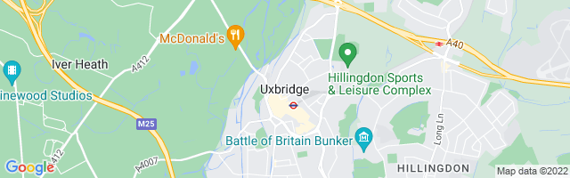 Map Of Uxbridge