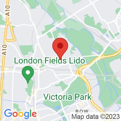 Map showing Eat17 Hackney