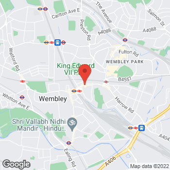 Map of wilko Wembley at 401/403 High Road, Wembley,  HA9 7AB