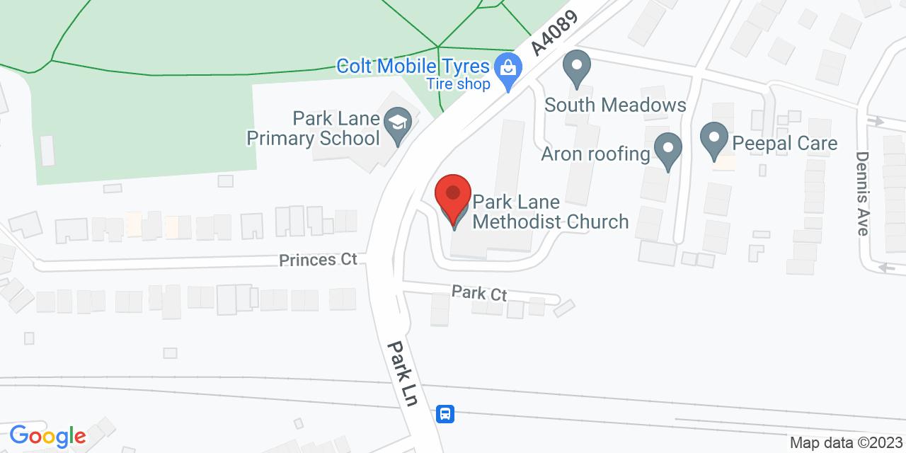 Map of Park Lane Methodist Church