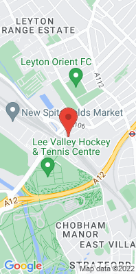 Map showing the location of the Waltham Forest Leyton monitoring site