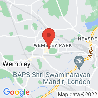 Map showing Out Of Office Coffee - The Hive Wembley