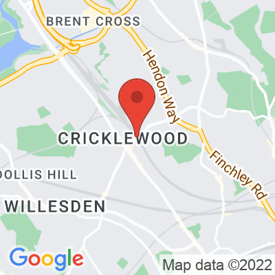 Map showing Cricklewood Coffee