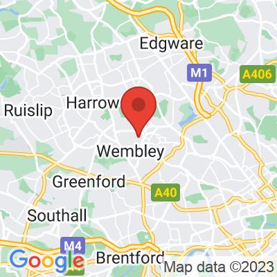 Map of King Edwards Park, Wembley, HA9 7QS