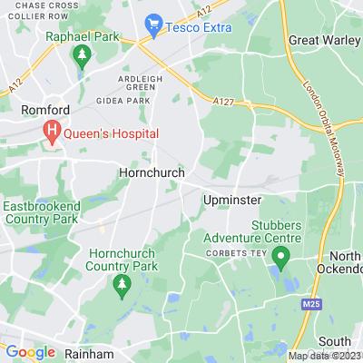 Gaynes Parkway, Hacton Parkway, Suttons Parkway Location