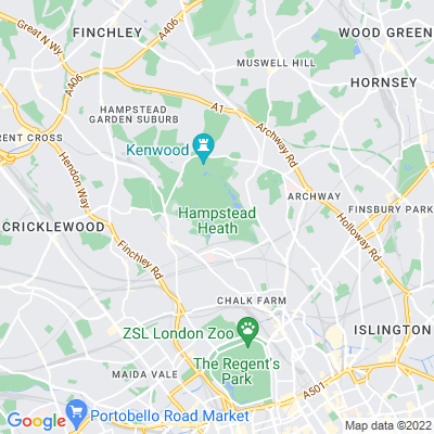 Heath Street Shrubbery and High Street Shrubbery Location