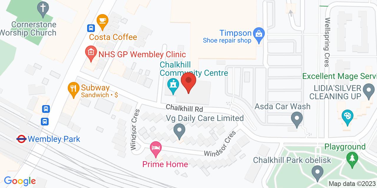 Map of Chalkhill Community Centre