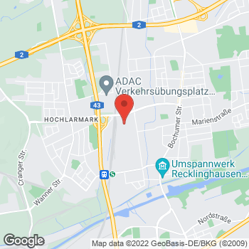 Map of Noleggio auto Recklinghausen - InterRent at Dieselstr. 9, Recklinghausen,  45661
