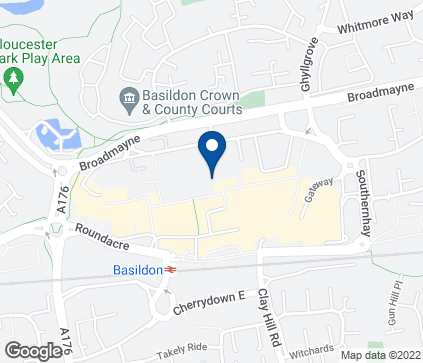 Map of 25 Town Square in Basildon