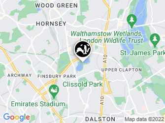 A static map of Woodberry Wetlands