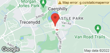 Map of Hilary's Florist at 74 Cardiff Road, Caerphilly, Mid Glamorgan CF83 1JR
