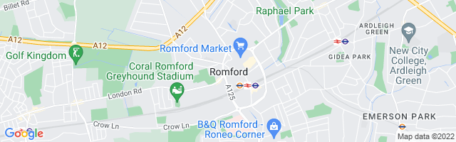 Map Of Romford