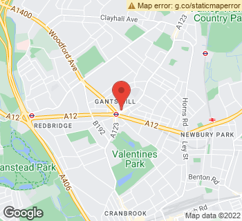 Map of Margrets Florist at 585 Cranbrook Road, Ilford, Essex IG2 6JZ