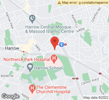 Map of Dawn Flower at 1 Manor Parade, Harrow, Middlesex HA1 2JN